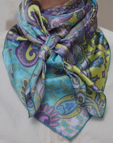 Paisley Turquoise & Violet