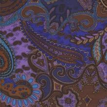 Cowboy Images Blue Brown Paisley