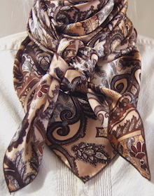 Cowboy Images Brown Paisley