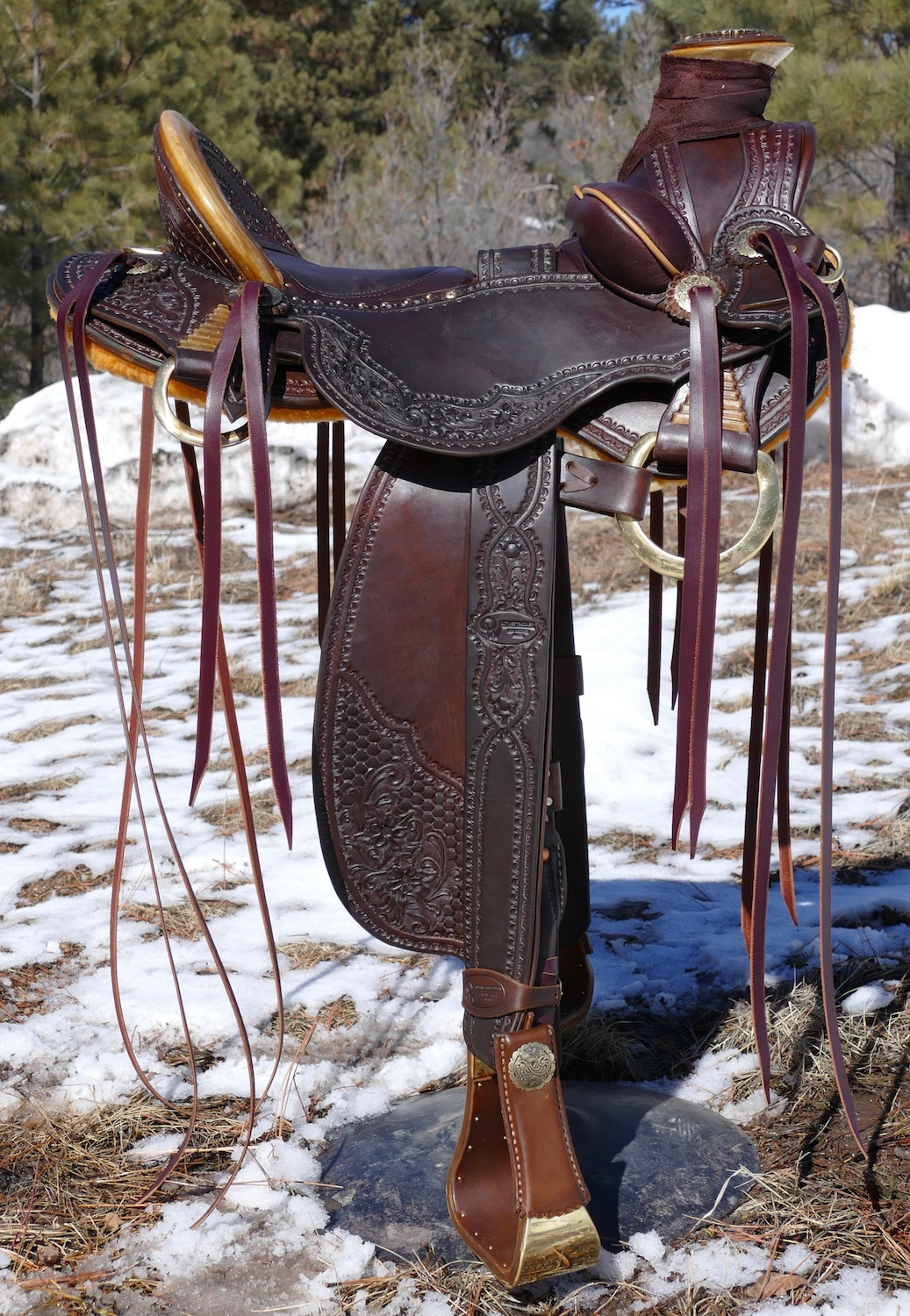 Out West Saddlery Saddle For Sale