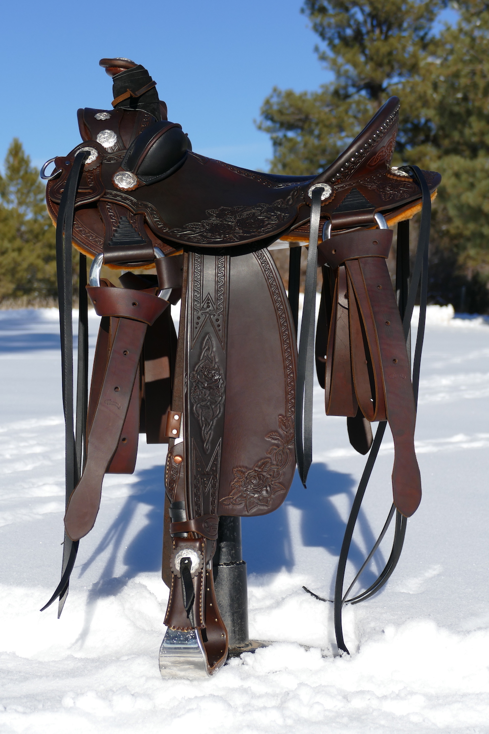 Custom Out West Saddlery Saddle