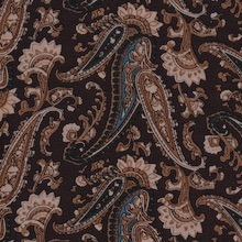 Cowboy Images Saddle Brown Paisley