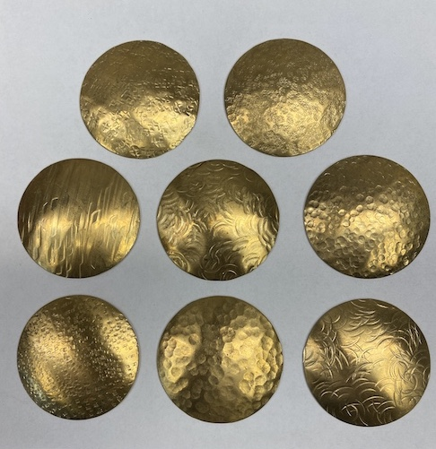 R & R Textured Brass Conchos
