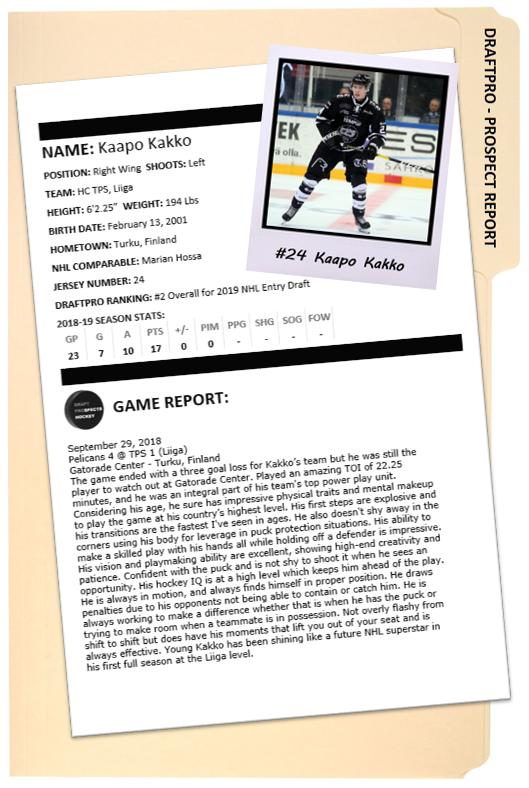 Kakko Prospect Report (Jari Nikkola)