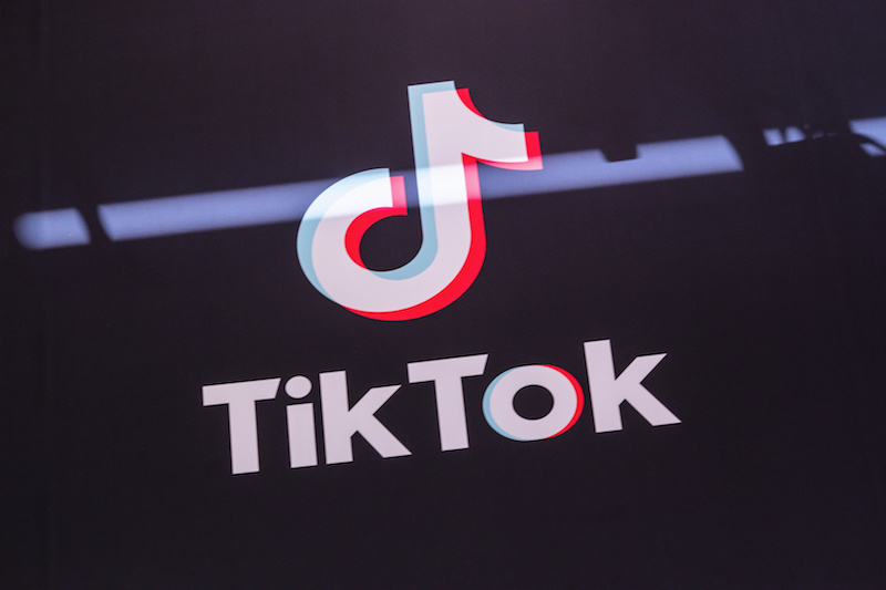 Tik Tok icon on screen