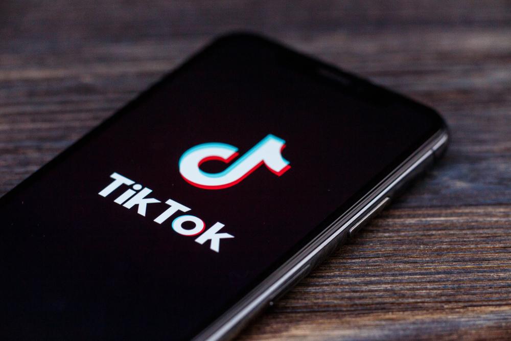 Logo of Tiktok on phone