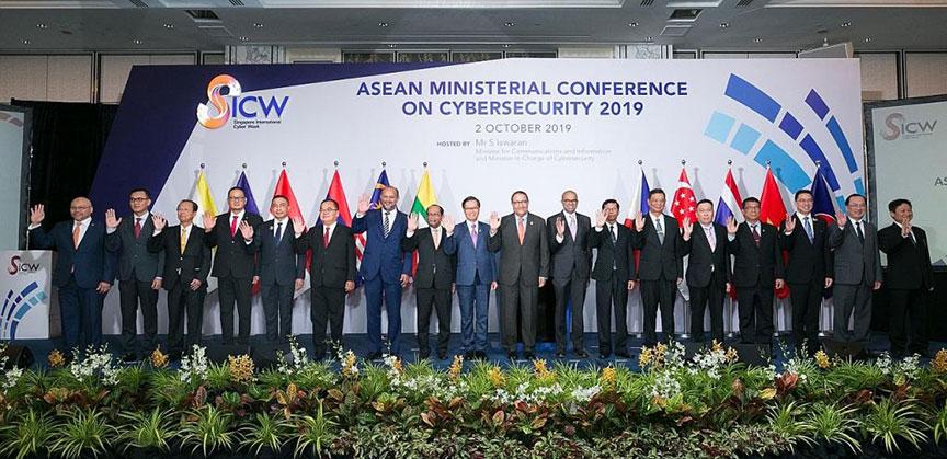 サイバー脅威の軽減を目指して協力の必要性を強調するASEAN閣僚等