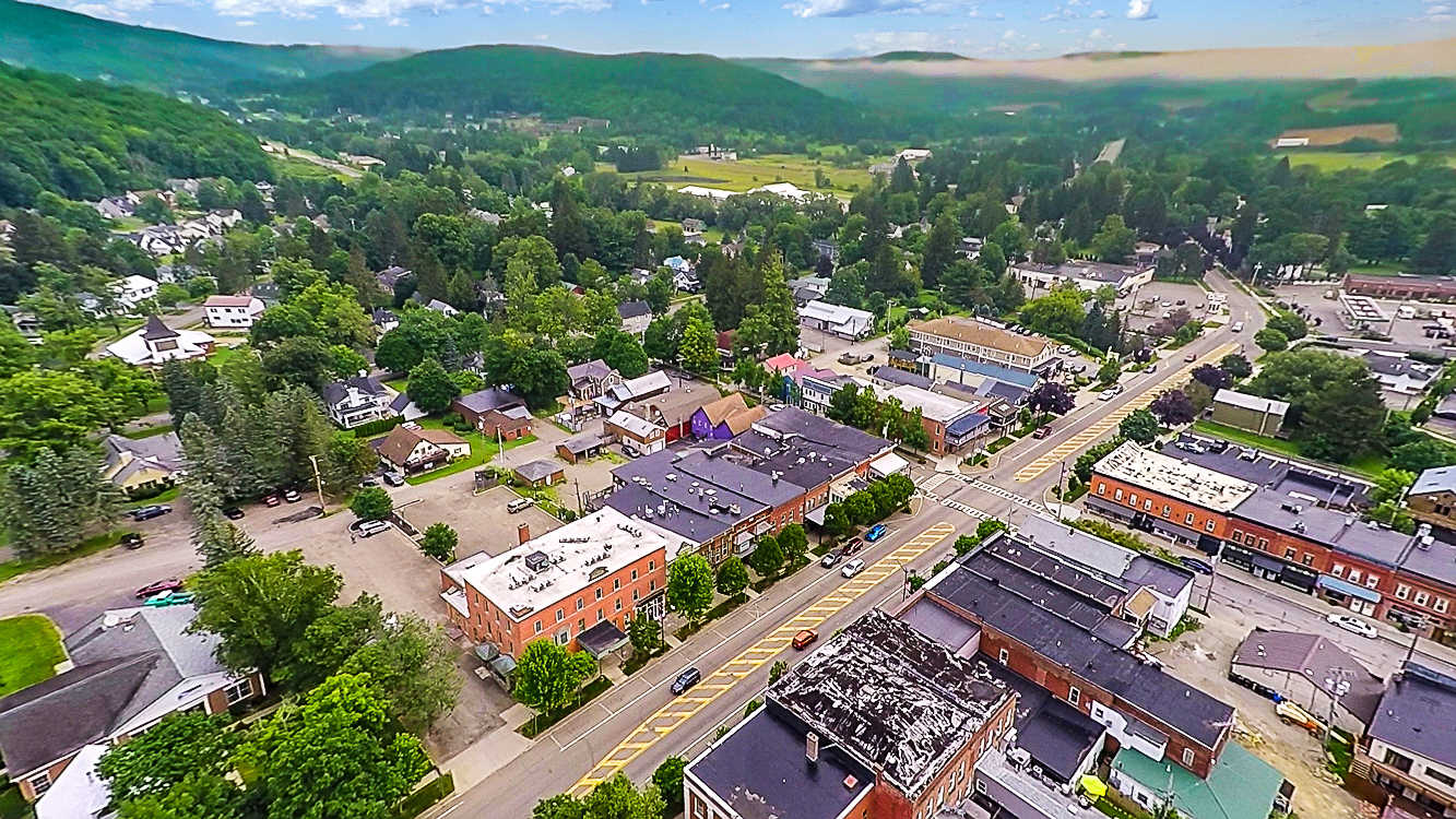 Ellicottville Village Aerial View