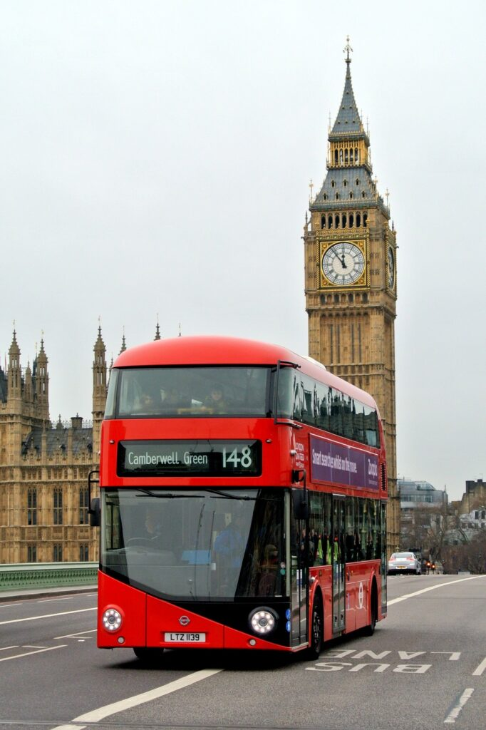 Map of The United Kingdom & Travel Guide, London Double Deck Bus