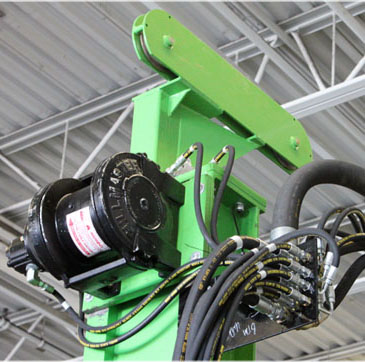 Mast Extension and hydraulic winch package