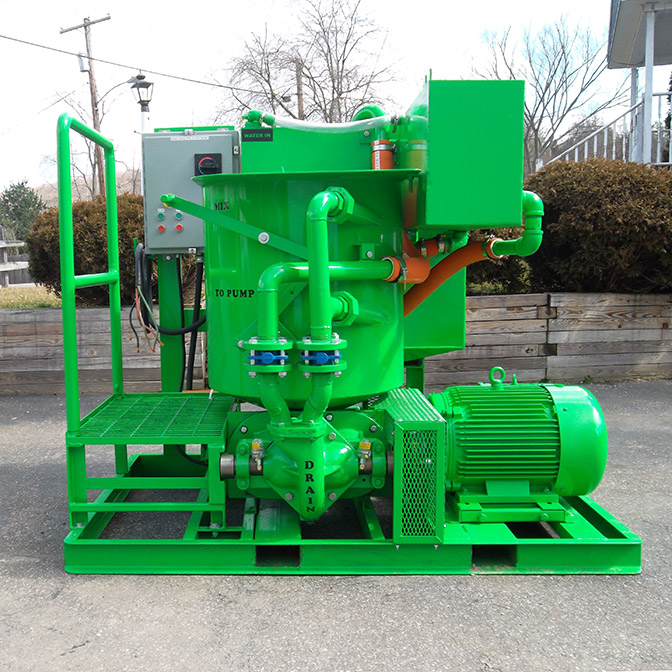 Colloidal grout mixer and pump