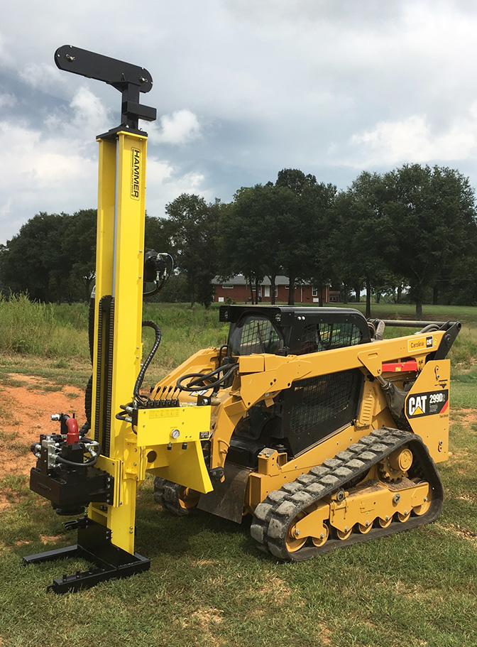 K2 Drill Mast for micropiles and geotechnical drilling
