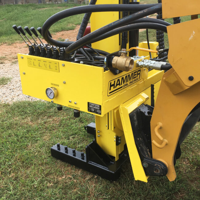 Skid Steer Drill Mast Attachment for micropiles