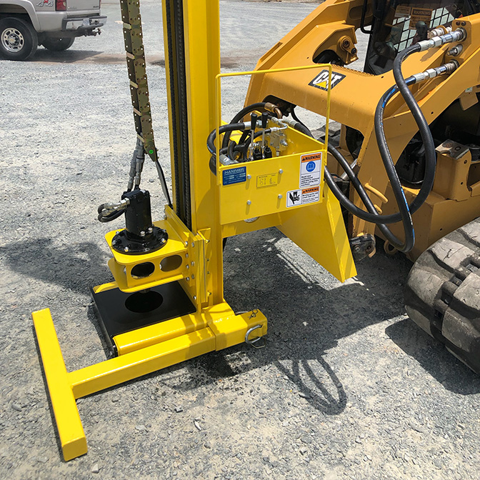 K1 Skid Steer Drill Mast for dewatering