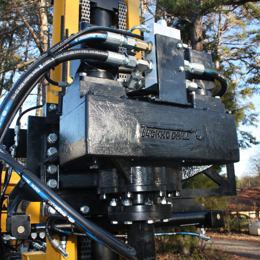 JT200 High Torque Drill Head for micro piling