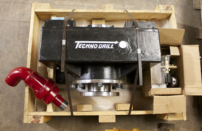 High torque drill head for micropiling
