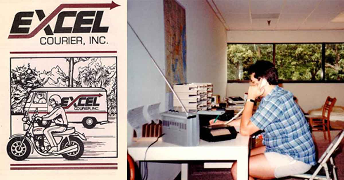 Chris Marchetti during early days at Excel Courier