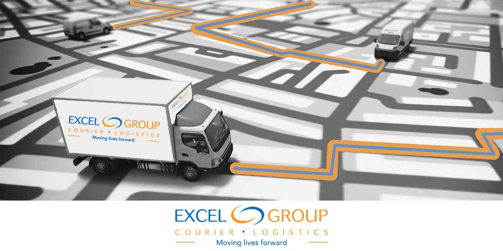 Excel Courier trucks on a map
