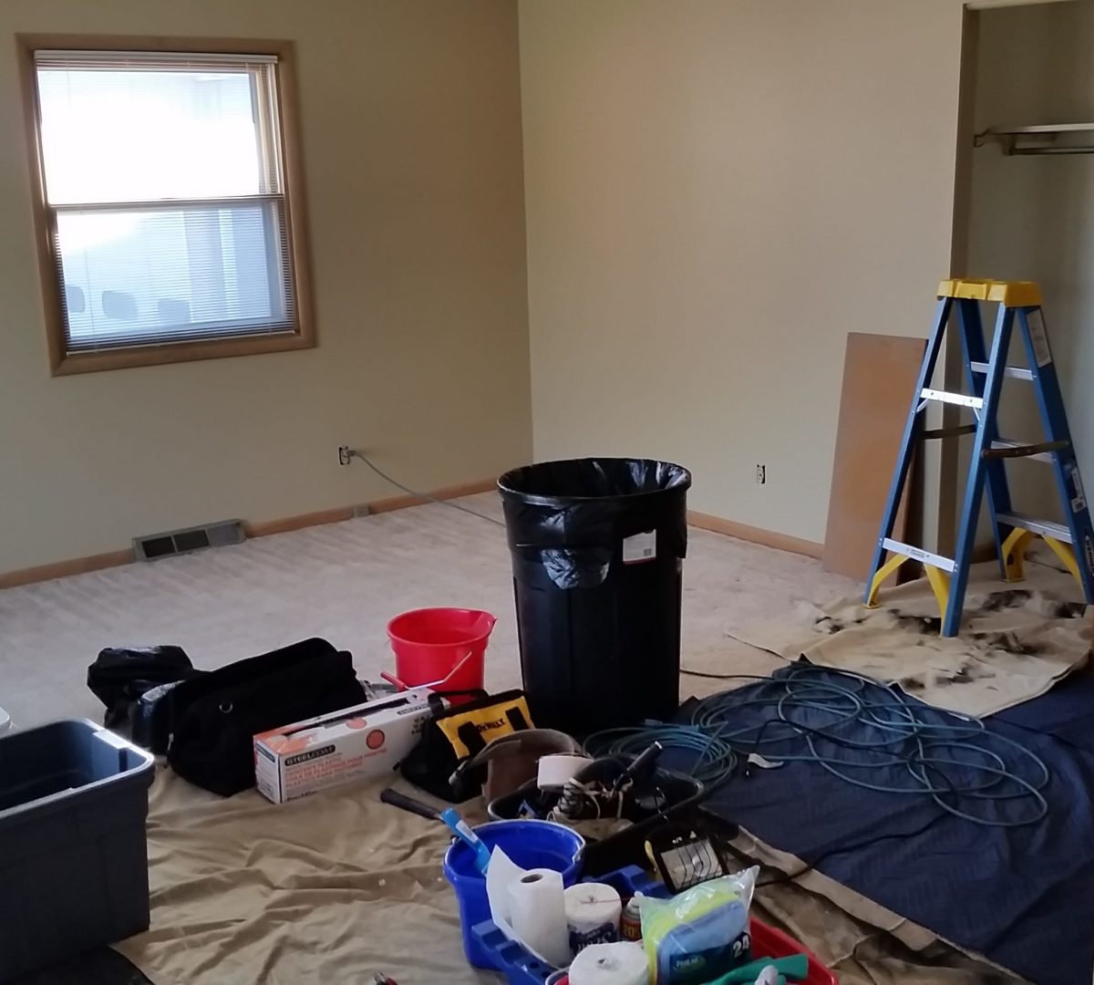 Photo of room prior to cleaning.