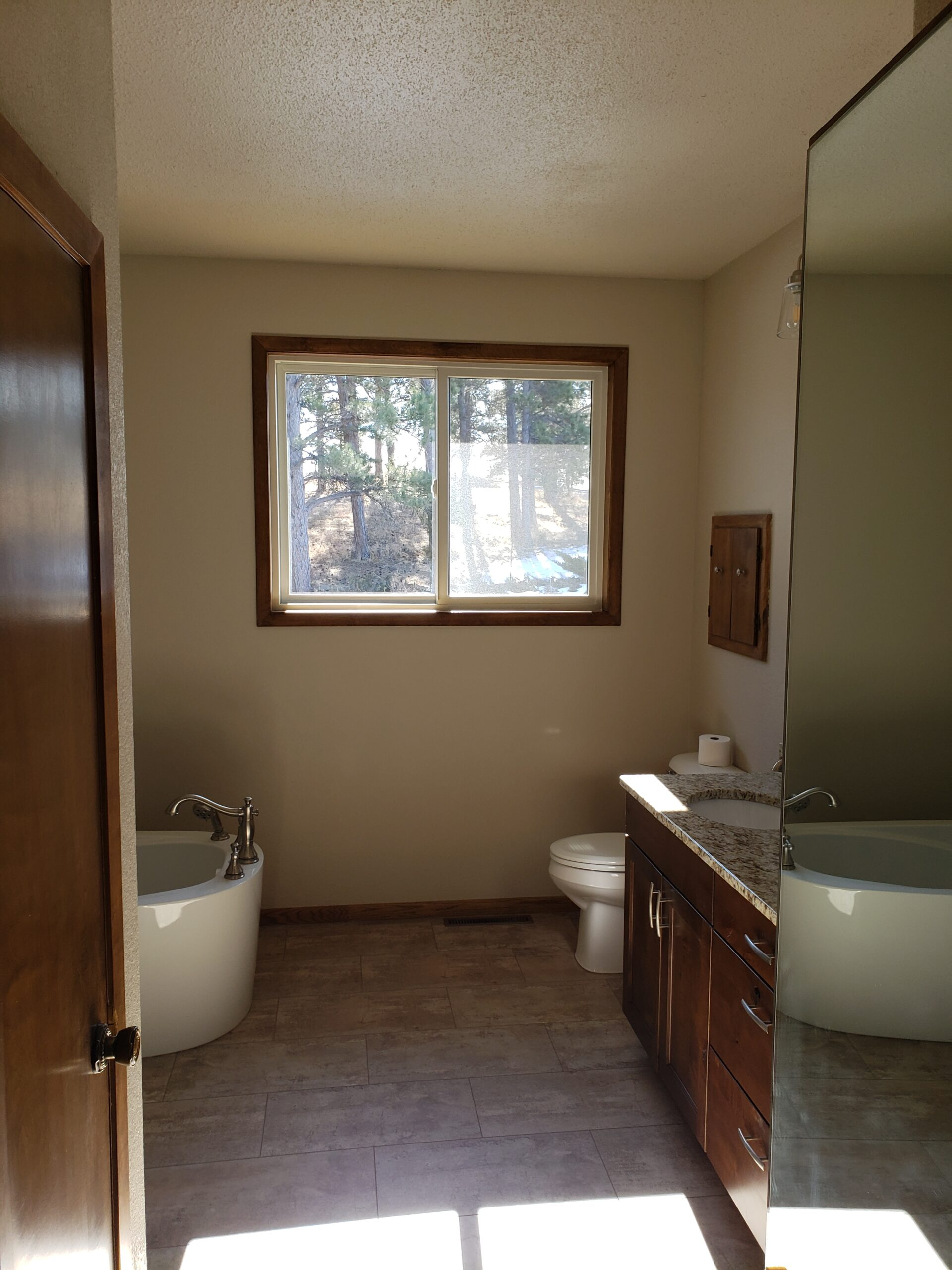 Bathroom remodel with new window