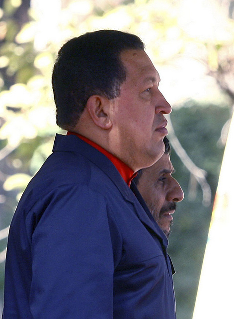 """Photo of """"A big atomic bomb will come out"""", Chavez says to Ahmedinejad"""