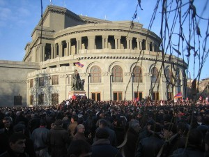 Demonstration in Armenia