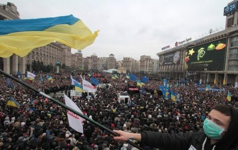 Photo of Thousands protest against the Ukrainian government for not singing the EU agreement