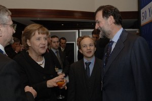 Rajoy with Merkel in 2007
