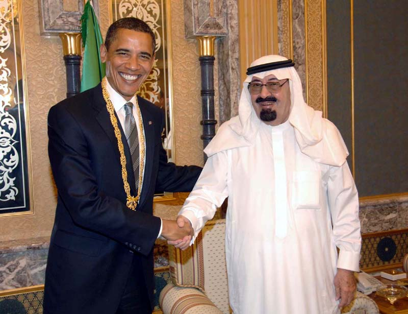 Photo of President Obama meets with King Abdullah of Saudi Arabia