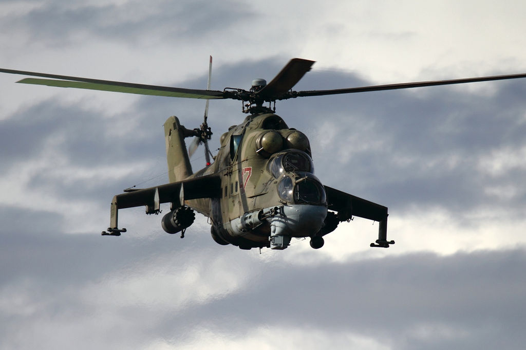 Photo of Azerbaijani forces down an Armenian military helicopter