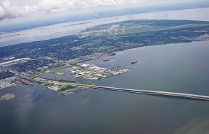 Aerial view of MacDill Air force base