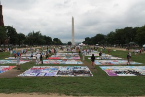 AIDS Quilt, 22 June 2012, 19th International AIDS Conference in Washington DC (Courtesy: WikiCommons)