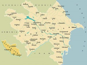 Nakhchivan, an exclave of Azerbaijan.