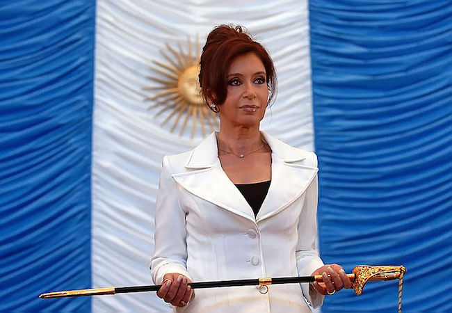 Photo of Ex president Cristina Fernandez properties searched as part of a alleged financial fraud wider investigation