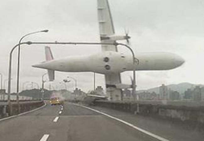 Photo of 31 confirmed dead in TransAsia plane crash