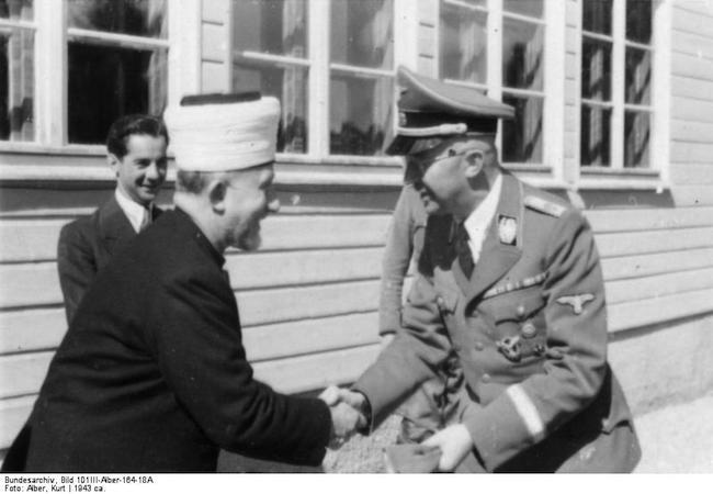 Haj Amin al-Husseini meeting with Heinrich Himmler (1943). (Photo: Courtesy of Wikipedia)