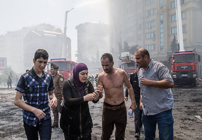 Photo of Sixteen people die in a highrise inferno in Azerbaijan