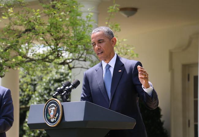 Photo of Obama behind bars