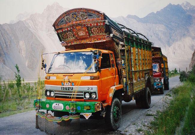 Jingle trucks on Karakoram Highway (Photo: Courtesy of WikiCommons)