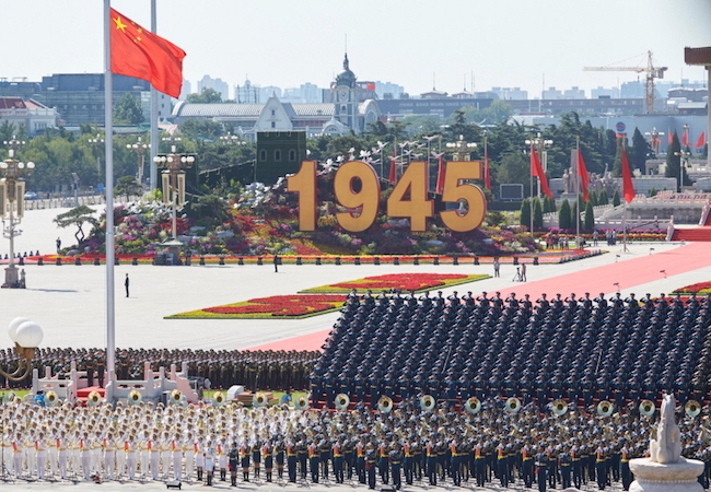 Photo of China's message to the world via its V-Day celebration