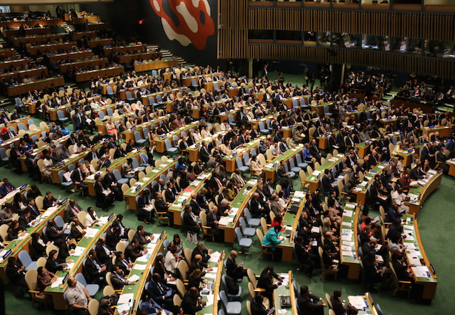 Photo of The UN leadership team and the Non-Aligned Movement