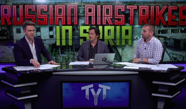 "Photo of The Young Turks on Russia's airstrikes in Syria: ""Russia is not going to do anything in there that doesn't help Assad."""