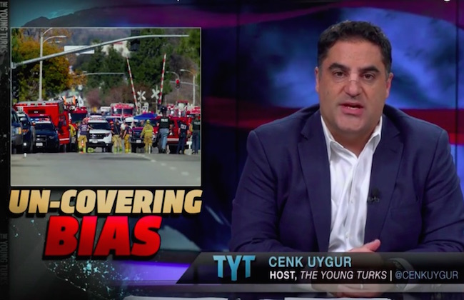 """Photo of Cenk Uygur on dangers of using a headline like 'Muslim Killers': """"We don't want ISIS and radical Islam to gain the upper hand."""""""