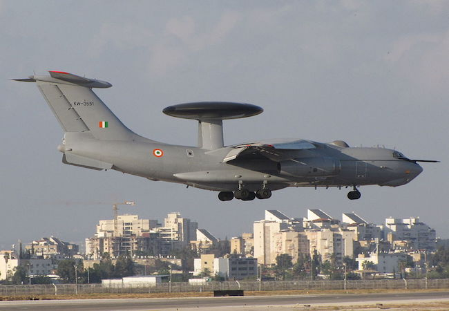 The Indian Air Force's A-50EI, equipped with the Israeli EL/W-2090 airborne radar. India is Israel's largest Asian economic partner. (Photo by Michael Sender: Courtesy of WikiCommons)