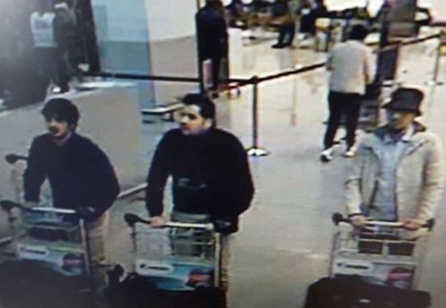 """Photo of Belgian prosecutor: Suspect admits to being """"man in hat"""" in Brussels airport attack"""