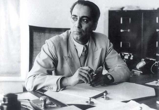 Photo of Dr Homi Bhabha – a great visionary and the architect of nuclear India