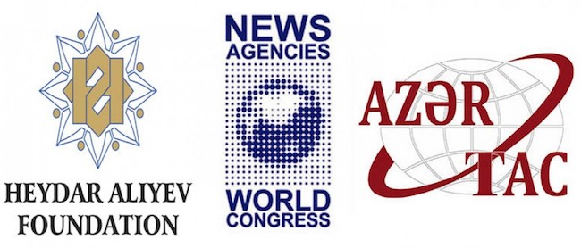 The Congress is organized by the Heydar Aliyev Foundation, News Agencies World Congress and AZERTAC