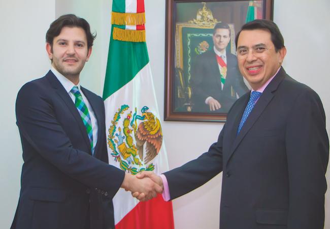 Photo of Ambassador Miranda on bilateral relations between Mexico and Saudi Arabia