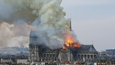 Photo of Massive fire engulfs the historic Notre-Dame Cathedral of Paris