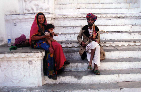 Musical family in Udaipur